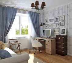 Дизайн интерьера кабинета - Разработка дизайн-проекта интерьера в Екатеринбурге