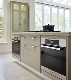 Smallbone kitchen - handpainted but contemporary and relaxed