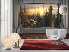 Fototapety Star Wars výhled na Coruscant