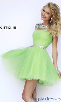 Dress, Short High Neck Sherri Hill Prom Dress - Simply Dresses