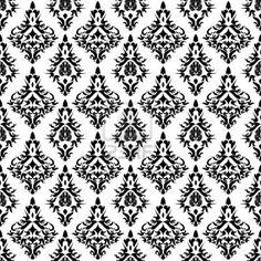 Vintage Wallpaper Seamless Pattern | Vintage DamaskVector Seamless Pattern Royalty Free Wallpaper : Antique ...