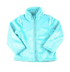 turquoise sweater, fuzzy jacket, Children's Place jacket, Children's Place for girls