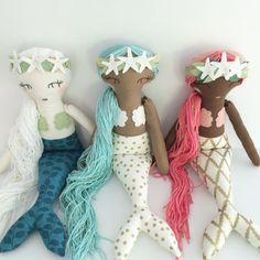 PERSONALIZADO sirena muñeca hecho a mano blanco por aprilmoffatt