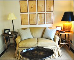 Creative Tonic loves the puddled double ruffled sofa