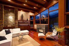 Fireplace creates a beuatiful focal point inside the living room - Decoist