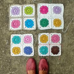 Joining all the squares - various suggestions with patterns for each.   My Rose Valley: How to join Maybelle Squares