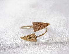 ON SALE Symbols adjustable  bracelet by SANKTOLEONOJEWELRY on Etsy