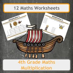 12 fun, Viking-themed worksheets, covering multiplication. This bundle contains a mix of worksheets from word problems and plain questions to our Box Challenge worksheets to keep lessons interesting and varied. All worksheets are Viking themed so use them alongside history lessons to surround your class with the subject.