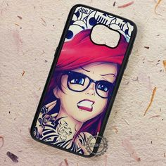 Punk Skull Ariel The Little Mermaid - Samsung Galaxy S7 S6 S5 Note 7 Cases & Covers