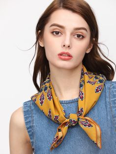 Shop Yellow Sunflower Print Square Scarf online. SheIn offers Yellow Sunflower Print Square Scarf & more to fit your fashionable needs.