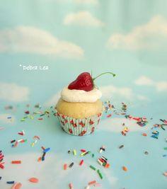 Fake Cupcake Handmade Fake Strawberry Shortcake Cupcake Strawberry on top - Imagine Out Loud