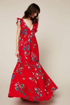 Robe Dalina rouge robe longue Rouge Achat Vente robe