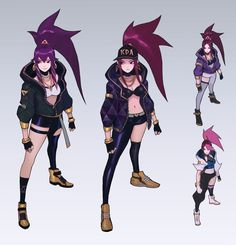 Yay the K/DA video is live! This was probably the most difficult set of skins I worked on this year alongside with Paul Kwon. I mainly did the design for Akali/Evelynn, did a lot of exploration work on Kai'Sa too lol. Sharing some of that work but Lol League Of Legends, Akali League Of Legends, Female Character Design, Character Design Inspiration, Character Concept, Character Art, Star Art, Sci Fi Characters, Manga Games
