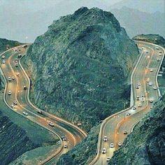 The road from Lamerd city to Assaluyeh - Fars Province - alongside of Persian Gulf - Iran استان فارس - جاده از شهرلامرد در استان فارس به طرف عسلویه در استان بوشهر