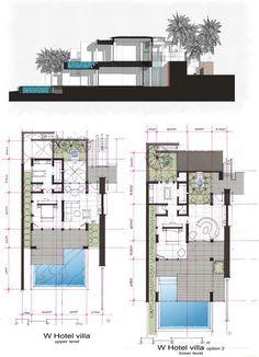 Unbelievable Modern Architecture Designs – My Life Spot Hotel Design Architecture, Detail Architecture, Modern Architecture House, Architecture Plan, Home Design Floor Plans, House Floor Plans, Hotel Floor Plan, Villa Plan, Modern Villa Design