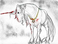 jewel the unicorn from Narnia-The Last Battle