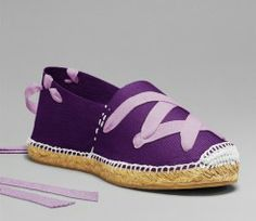 Purple espadrille with traditional lacing, handmade in La Rioja, Spain