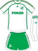Deportivo Cali of Colombia away kit for 2015.