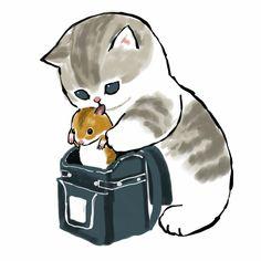 Kitty Drawing, Cute Cat Drawing, Cute Animal Drawings, Cute Drawings, Cute Little Kittens, Kittens Cutest, Cute Animal Illustration, Dibujos Cute, Cat Aesthetic