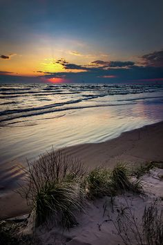 Lake Shore Sunset by Bradley P Smith
