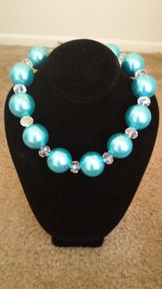 Turquoise pearl necklace on Etsy, $15.00