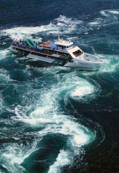 大鳴門橋と渦潮|鳴門市うずしお観光協会 Naruto, Boat, Travel, Dinghy, Viajes, Boats, Destinations, Traveling, Trips