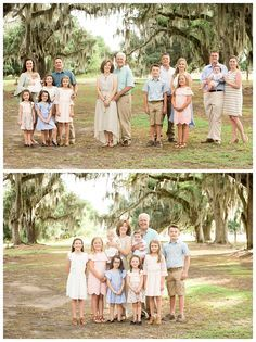 Large Family Portraits, Extended Family Photography, Family Portrait Outfits, Fall Family Photo Outfits, Family Portrait Poses, Family Picture Poses, Family Posing, Children Photography, Beach Portraits