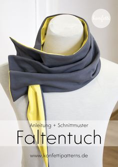 Freebook Faltentuch , Freebook pleated cloth sewing instructions and cutting nut for a scarf or also a triangular cloth / cloth from Confetti Patterns. Due to the detailed . Sewing Clothes, Diy Clothes, Dress Patterns, Sewing Patterns, Baby Tie, Girls Lace Dress, Diy Accessoires, Neckerchiefs, Love Sewing