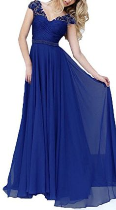FNKS Cap Sleeve Lace Chiffon Prom Dresses Evening Formal Gowns Royal blue US 20 Plus FNKS http://smile.amazon.com/dp/B01AJY7U8G/ref=cm_sw_r_pi_dp_.U37wb1R5KM0F