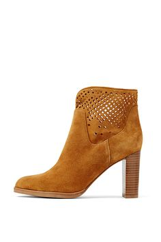 The Jaen is a modern take on the heeled boot. A strong heel and soft perforated suede make an eye-catching style that is perfect for transitioning from summer to fall.