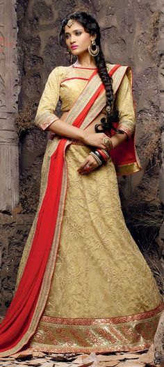 151045: #lehenga #bridal #wedding #golden #partywear #onlineshopping #embroidery #floral #sale