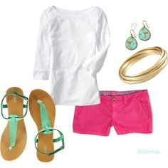 make those cute little pink pants capris and I love this look