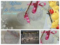 Preciosas esferas para el árbol de Navidad con silicona caliente