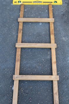 Created This Stocking Holder Out Of An Old Ladder That Was