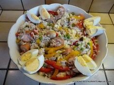 Salade de riz! Grits, Culinary Arts, Polenta, Couscous, Risotto, Cobb Salad, Entrees, Bbq, Food Porn