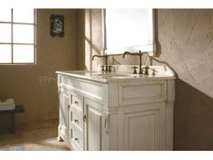 60 inch bathroom vanities | 60 Inch Double Sink Vanity with Cottage White Finish - Image 3