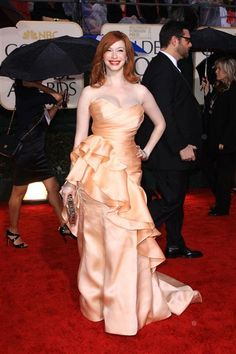 "Christina Hendricks got a lot of attention for the ruffled Christian Siriano gown she wore to the 2010 Golden Globe Awards -- sadly, for all the wrong reasons. The ""Mad Men"" star found herself at the center of a controversy when a New York Times blogger critiqued her look by quoting a stylist opining, ""You don't put a big girl in a big dress,"" alongside a horizontally stretched photo of the actress. Whether you like this look or not, there's no denying it's one to remember."