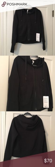 """Lululemon Hoodie Size 6 Lululemon """"back to it"""" hoodie, size 6. New with tags!! So comfy and cute, slightly cropped in front, a tad longer in the back. Perfectly cozy and easy to throw on over workout clothes! lululemon athletica Tops Sweatshirts & Hoodies"""