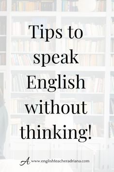 Learn English 748230925574049480 - Train your brain to think fast when speaking in English using these easy steps. Click the link below to watch the full video lesson Source by Improve English Speaking, English Learning Spoken, Teaching English Grammar, English Writing Skills, English Vocabulary Words, English Language Learning, English Lessons, Grammar Lessons, French Lessons