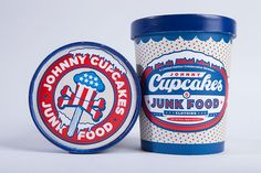 Jonny Cupcakes, Ice Cream - 25 Cool T-shirt Packaging Design Examples