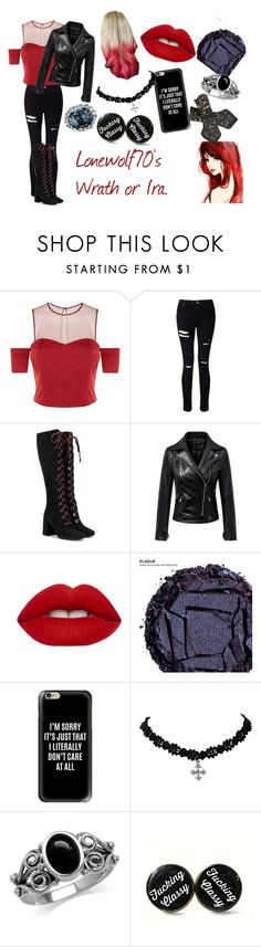"""""""Lonewolf70's Ira"""" by luna565 ❤ liked on Polyvore featuring Pinko, Miss Selfridge, Prada, Chicnova Fashion, Lime Crime, Urban Decay, Casetify and Sibling"""