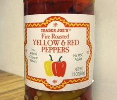 Traer Joe's Fire Roasted Red and Yellow Peppers | Trader Joes easy, healthy, quick recipes for dinner, occasions, breakfast and lunch meal ideas