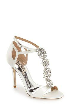 Badgley Mischka 'Leigh' Embellished Evening Sandal (Women)