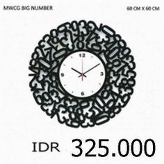 MWCG Big Number - GALLERY JAM DINDING UNIK