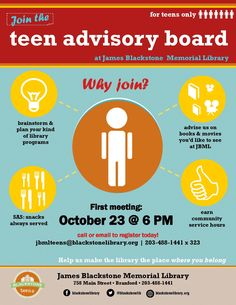 teen advisory board flyer