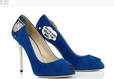 Veronica Lodge, of Archie Andrews Comics fame, is on the heel of these Charlotte Olympia blue peep toe stiletto pumps. Trending style for elegant comics on women's shoes. Charlotte Olympia, Frederique, Fashion Magazin, Betty And Veronica, Hot Shoes, Women's Shoes, Fancy Shoes, Shoes Style, Pretty Black