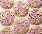 One Dozen Black and White Baroque Cookies - Orange Vanilla Spice Cookies. $72.00, via Etsy.