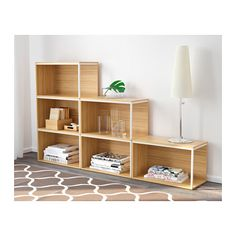 IKEA PS 2014 Storage combination with top, bamboo, white bamboo/white 23 5/8/70 7/8x13 3/4/41 3/8