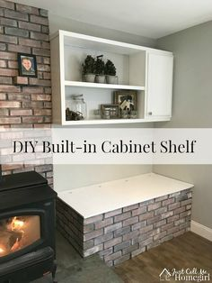 A Built in Cabinet Shelf for next to our wood stove in our basement.