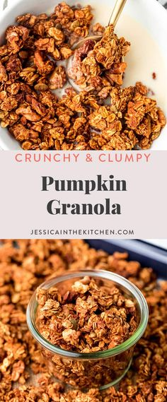 Prepped in just 10 minutes, this Pumpkin Granola will become a staple in your home! It's made with 8 ingredients, and includes tips on how to make the best crunch and clumps, and lasts up to a month!